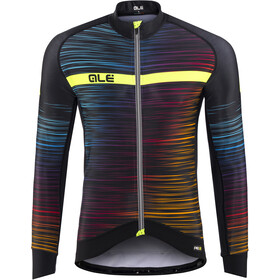 Alé Cycling Graphics PRR The End Longsleeve Jersey Heren, black-multicolor-yellow-fluo